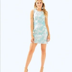 Lilly Pulitzer Mila Shift Dress Seasalt Midi Dress